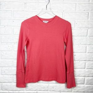 SUNDANCE Waffle knit thermal long sleeve shirt
